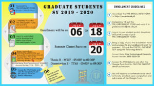 GRADUATE SCHOOL ENROLLMENT GUIDELINES SY 2019-2020