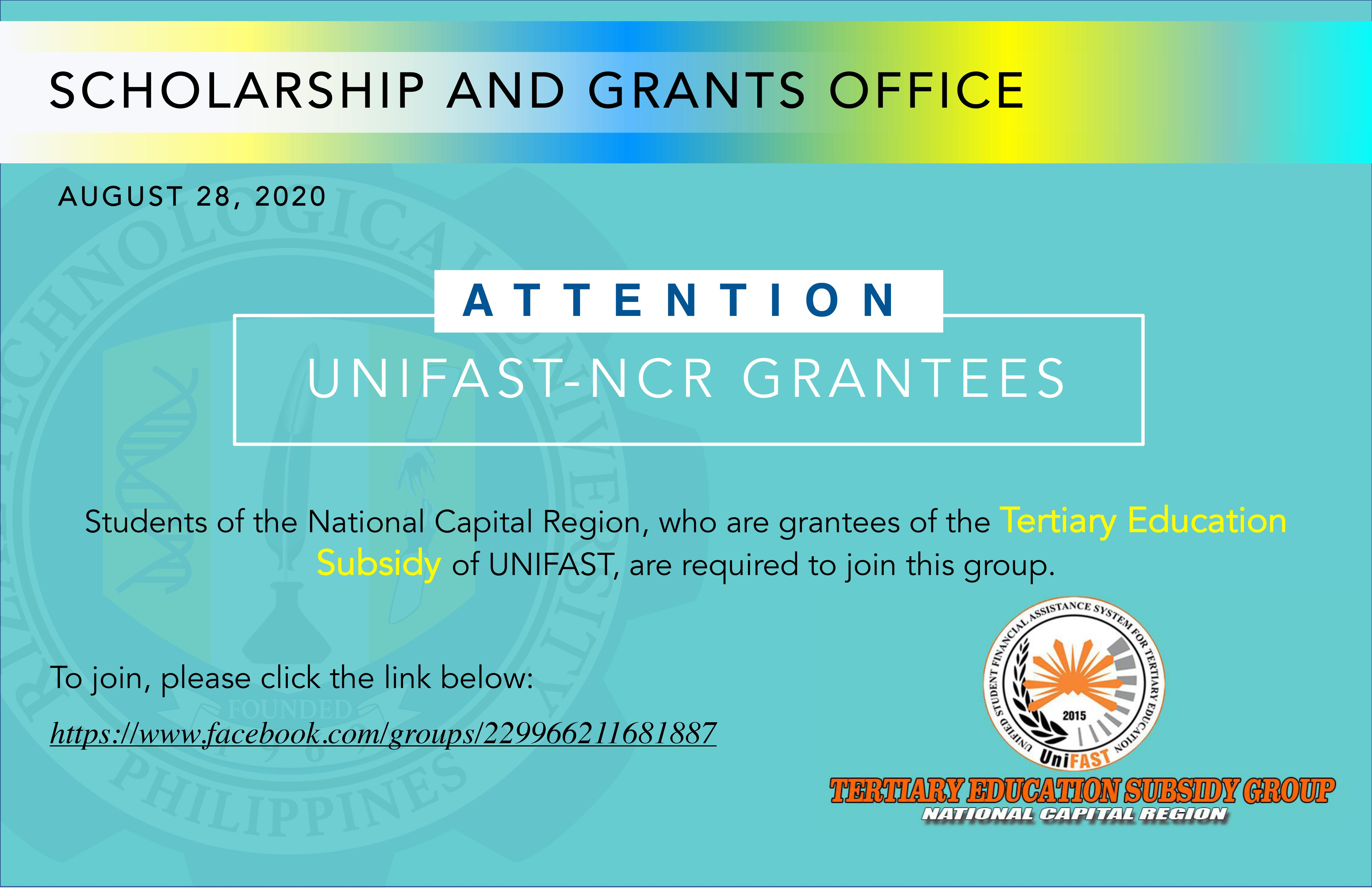 UNIFAST-NCR GRANTEES