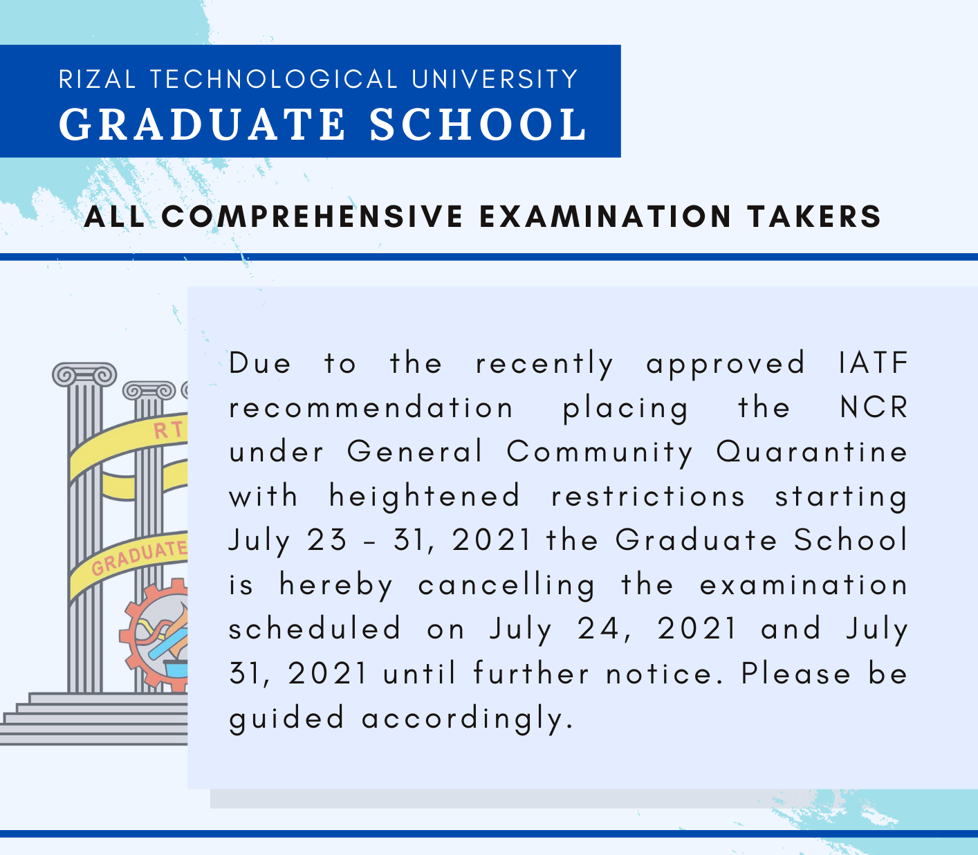 You are currently viewing TO ALL COMPREHENSIVE EXAMINATION TAKERS (GRADUATE SCHOOL)