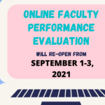 ONLINE FACULTY PERFORMANCE EVALUATION