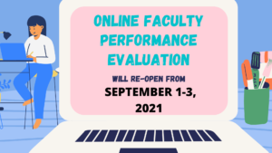 Read more about the article ONLINE FACULTY PERFORMANCE EVALUATION